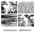 set with textures of nature.  | Shutterstock .eps vector #280964117