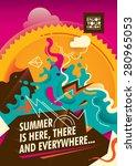 abstract summer poster design... | Shutterstock .eps vector #280965053