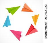 airplane backgrund vector... | Shutterstock .eps vector #280966223