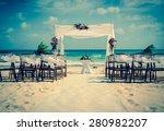 Wedding Altar On The Beach In...