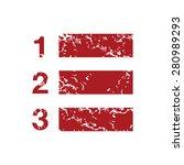 red grunge list logo on a white ...