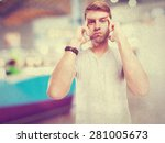 blond man thinking | Shutterstock . vector #281005673