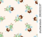 angel   cartoon seamless... | Shutterstock .eps vector #281022137
