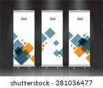 roll up banner stand design.... | Shutterstock .eps vector #281036477