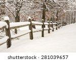 Split Rail Fence With Fresh...