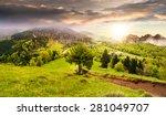 composite summer landscape. fog ... | Shutterstock . vector #281049707