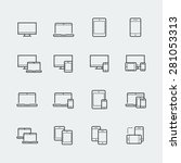 responsive web design icons for ... | Shutterstock .eps vector #281053313