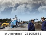 industry workers and stone... | Shutterstock . vector #281053553