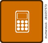 flat icon of calculator | Shutterstock .eps vector #281057573