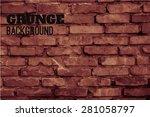 vector  background of old brick ... | Shutterstock .eps vector #281058797