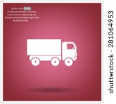 pictograph of truck | Shutterstock .eps vector #281064953