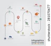 infographic report template... | Shutterstock .eps vector #281070677