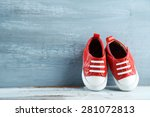 colorful toddler shoes on... | Shutterstock . vector #281072813