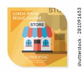 building shop store flat icon... | Shutterstock .eps vector #281091653