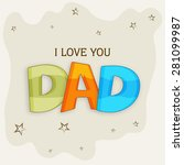 vintage greeting card design...   Shutterstock .eps vector #281099987