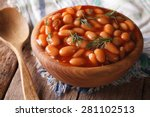 White Beans In Tomato Sauce In...