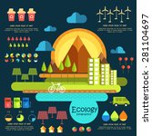 ecology infographic elements... | Shutterstock .eps vector #281104697