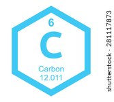 periodic table carbon | Shutterstock .eps vector #281117873