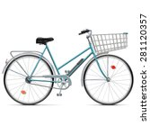 vector bicycle with cart | Shutterstock .eps vector #281120357
