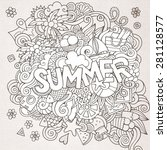 summer hand lettering and... | Shutterstock .eps vector #281128577