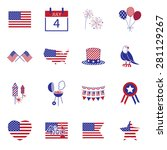happy independence day line... | Shutterstock .eps vector #281129267