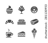 cafe and confectionery vector... | Shutterstock .eps vector #281130953