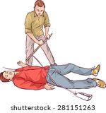 electric shock first aid | Shutterstock .eps vector #281151263