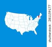 map of vermont | Shutterstock .eps vector #281159177
