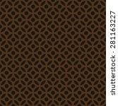 Seamless Chocolate Brown Arabi...