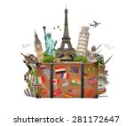 famous monuments of the world... | Shutterstock . vector #281172647
