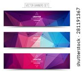 abstract 3d vector digital... | Shutterstock .eps vector #281191367