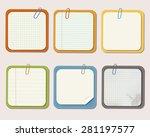 set of different vector note... | Shutterstock .eps vector #281197577