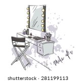 make up. vanity table and... | Shutterstock .eps vector #281199113