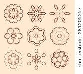 set of ethnic round vector...   Shutterstock .eps vector #281205257