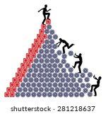 unfair workplace. one worker...   Shutterstock . vector #281218637