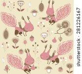 vector background with squirrels | Shutterstock .eps vector #281226167