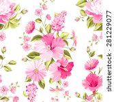 floral seamless pattern with... | Shutterstock .eps vector #281229077