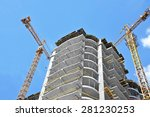 crane and building construction ... | Shutterstock . vector #281230253