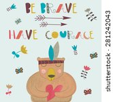 be brave card with arrows