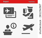 airport icons. professional ...   Shutterstock .eps vector #281256587