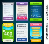 pricing table template. three... | Shutterstock .eps vector #281258333