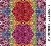 seamless pattern ethnic style.... | Shutterstock .eps vector #281280143