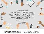 vector insurance concept...   Shutterstock .eps vector #281282543