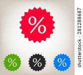 sign  percent symbol discount... | Shutterstock .eps vector #281288687