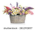 basket with wildflowers | Shutterstock . vector #281292857