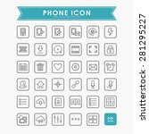 smartphone and web line icons | Shutterstock .eps vector #281295227