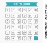 coffee minimal line icons | Shutterstock .eps vector #281295653