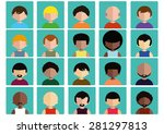 flat avatar icons package | Shutterstock .eps vector #281297813