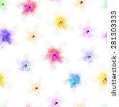 vector illustration of floral... | Shutterstock .eps vector #281303333