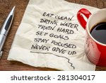 healthy lifestyle tips  ...   Shutterstock . vector #281304017